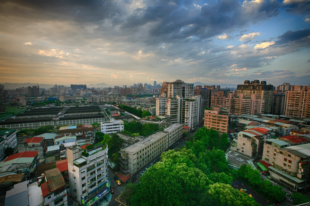 birds eyeview of city