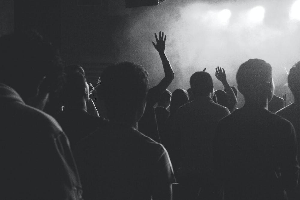 A crowd at a concert