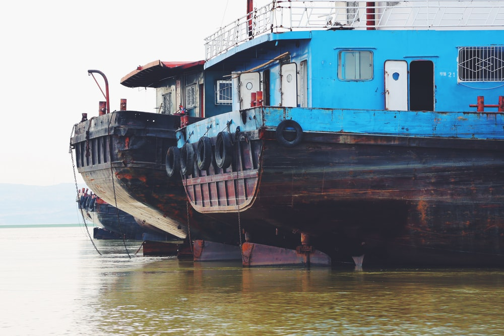 teal boat