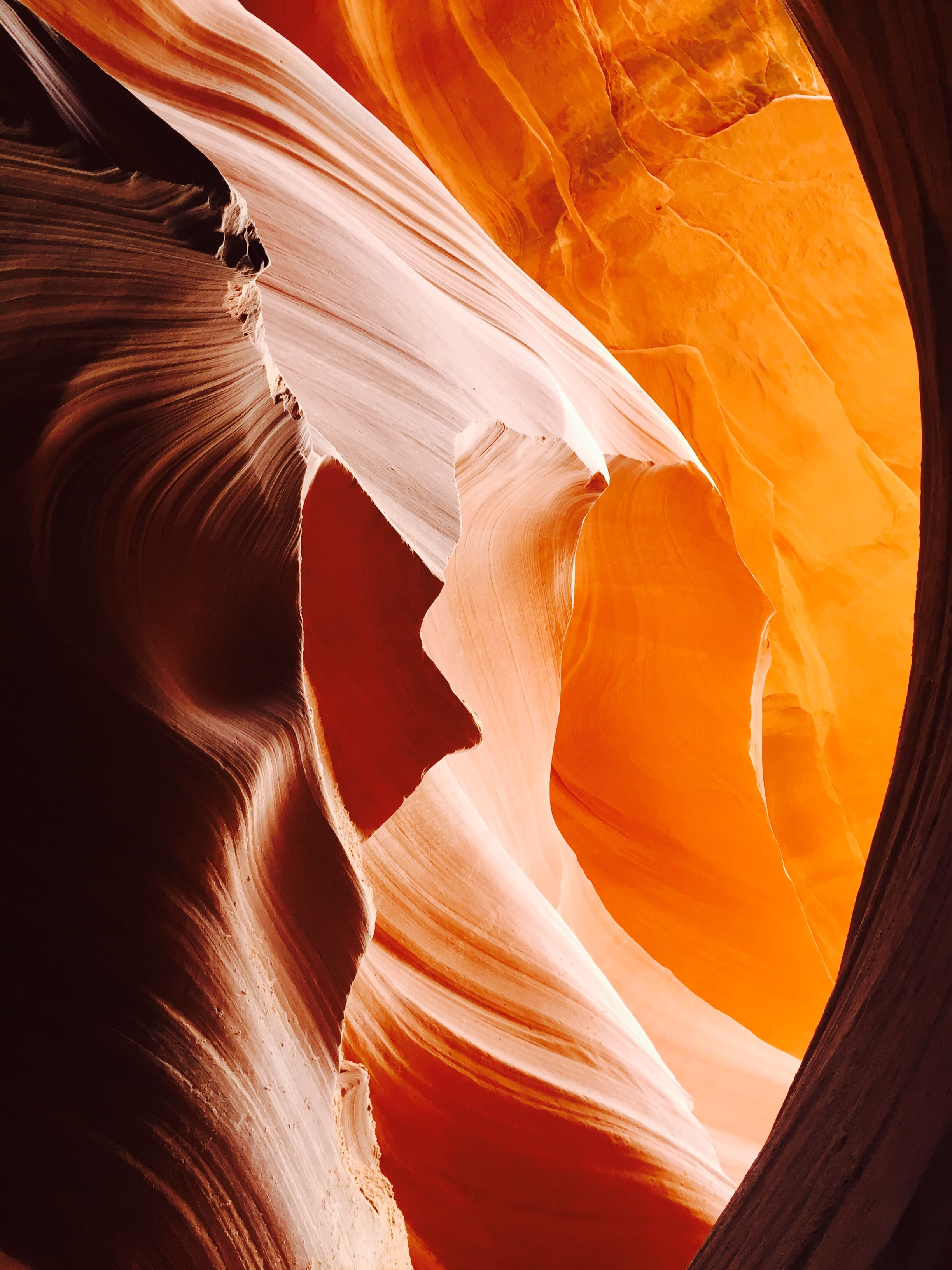 Swirling sandstone in a red canyon