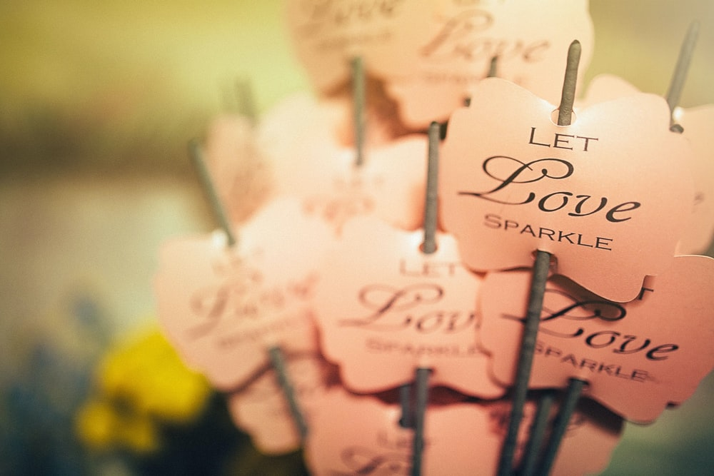 pink decors close-up photography