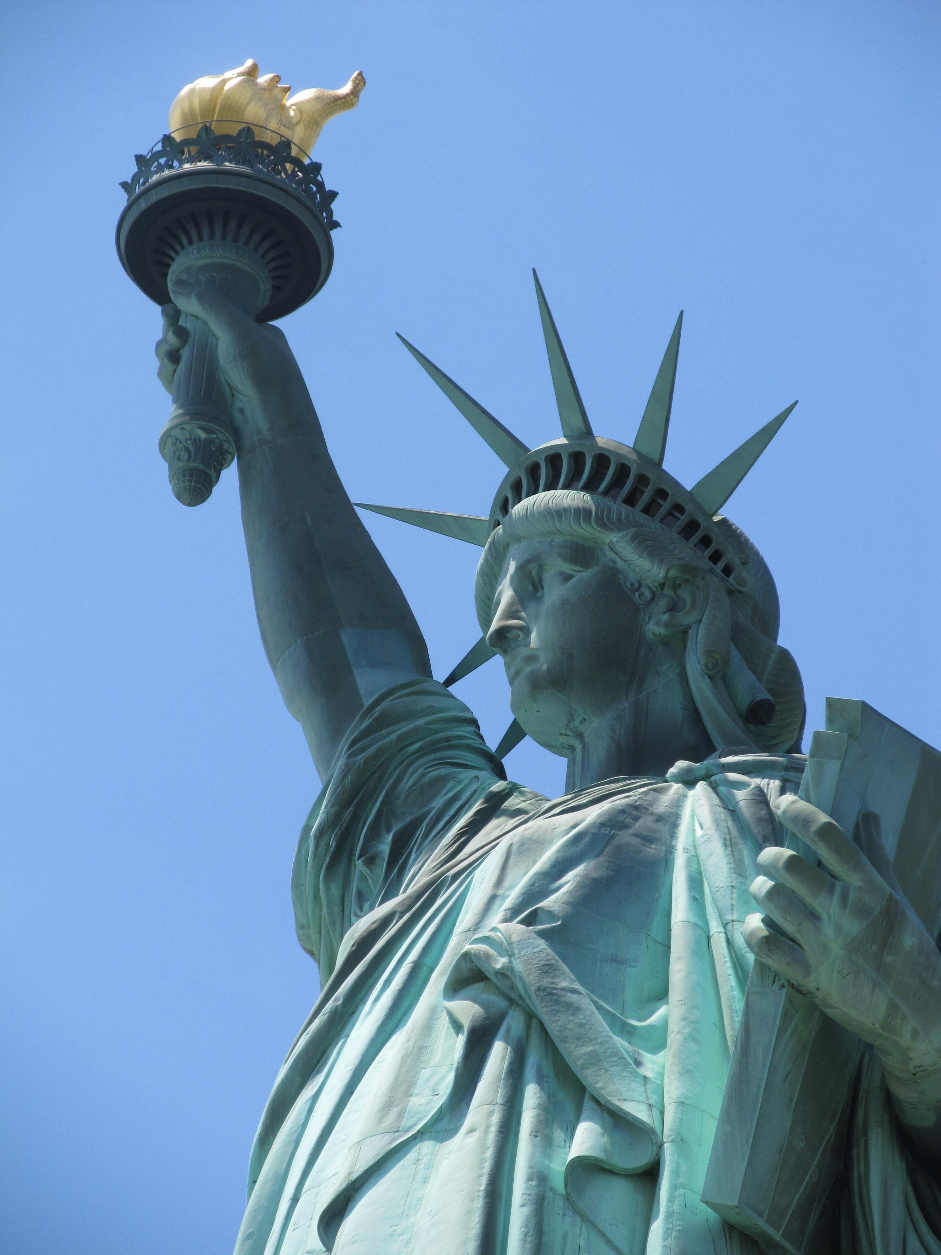 Statue of Liberty, New York under blue sky