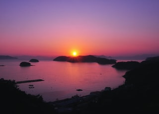 landscape photo of sunset over body of water
