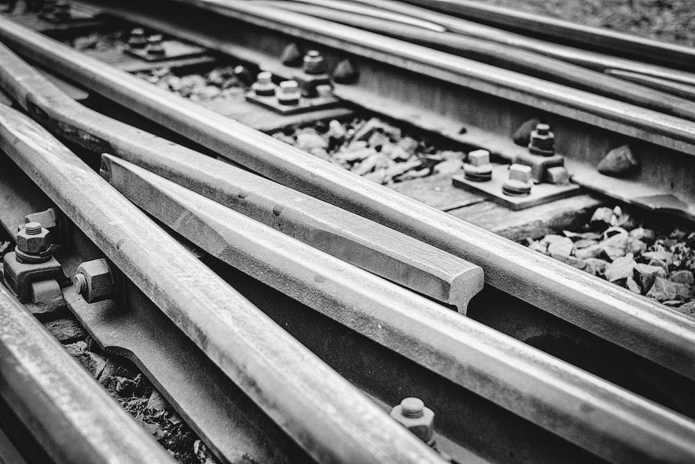 metal train tracks