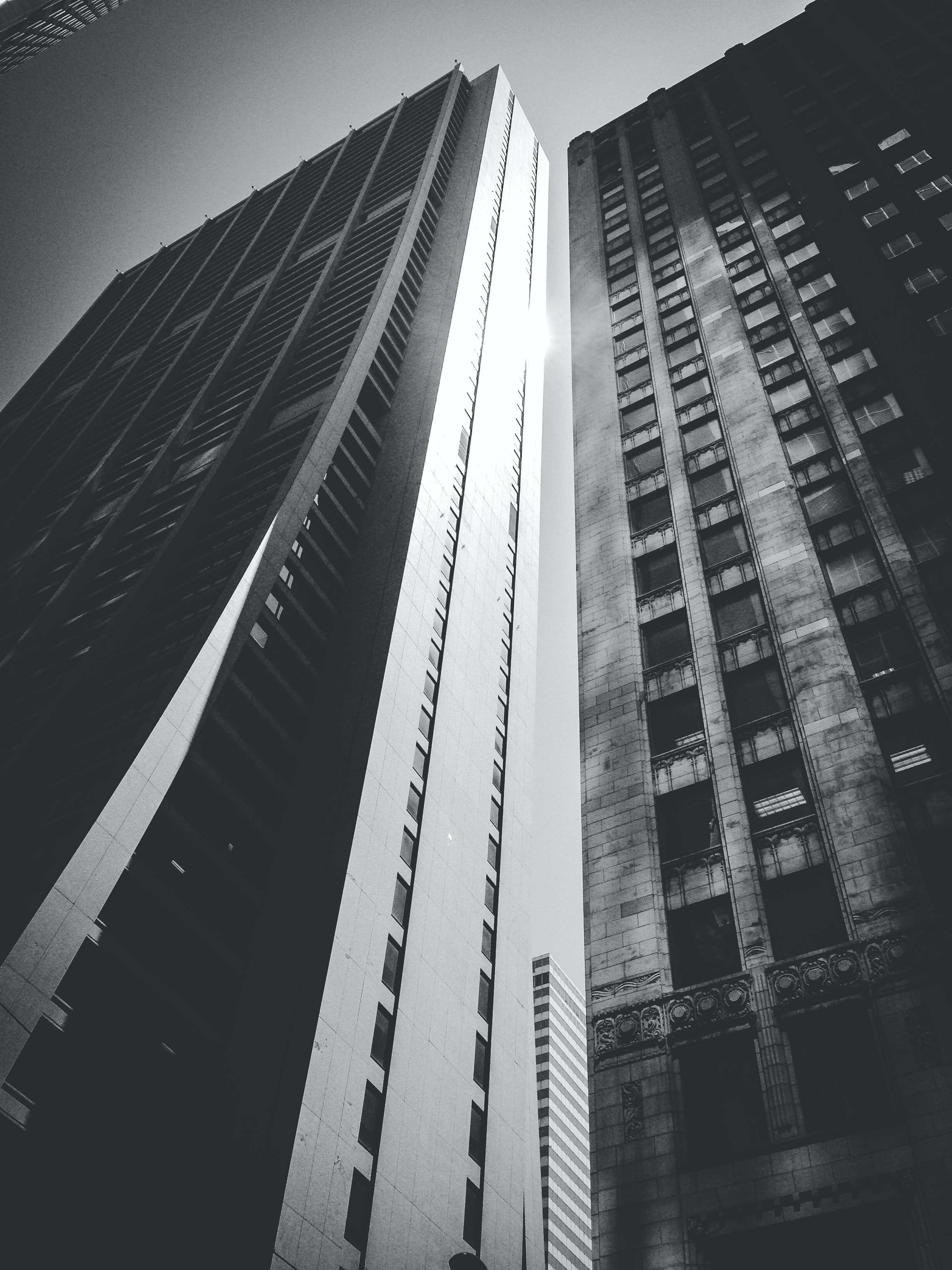 lower angle photography of high rise building