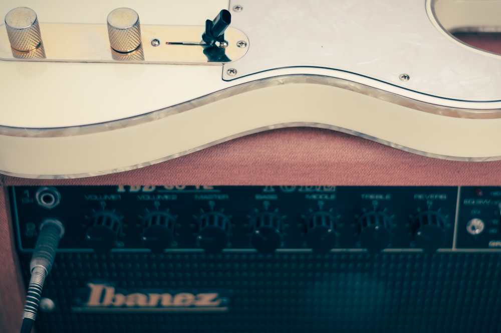 black Ibanez combo amplifier