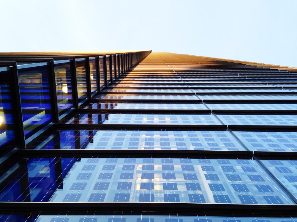low angle photography of building