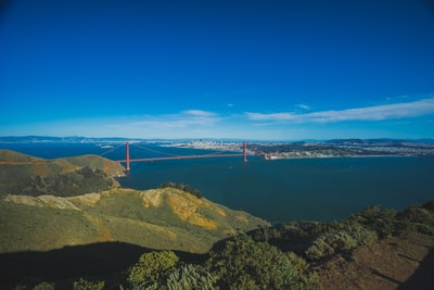 photography of golden gate bridge, san francisco seascape zoom background
