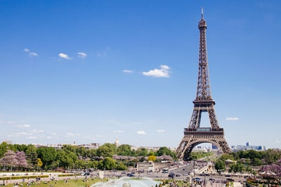 eiffel tower at paris, france france zoom background