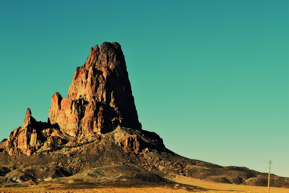 photography of brown mountain