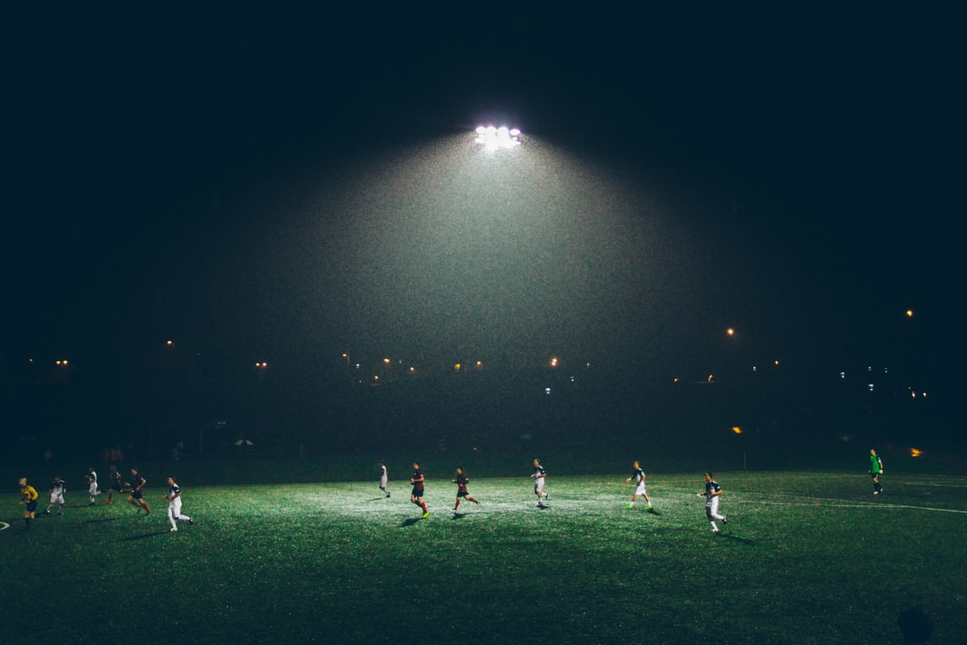 Soccer players playing in the dark - Is soccer year-round?