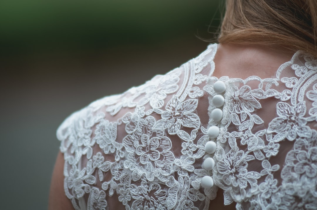 A bride's gown