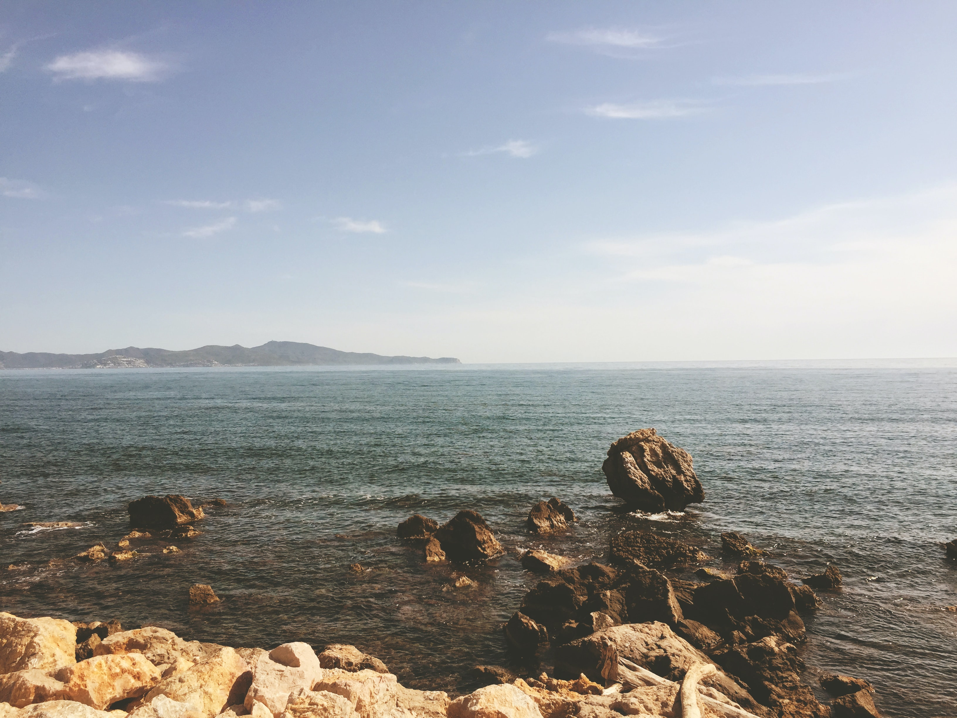 Ocean view from the rocky shoreline