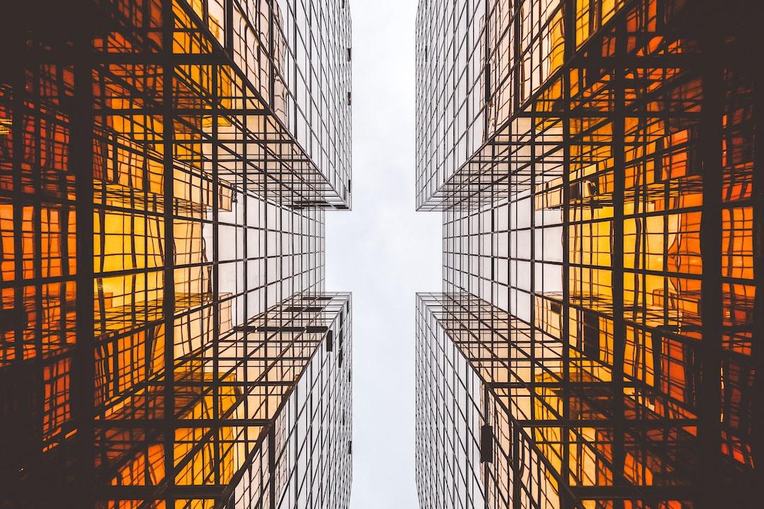 Orange reflective architecture