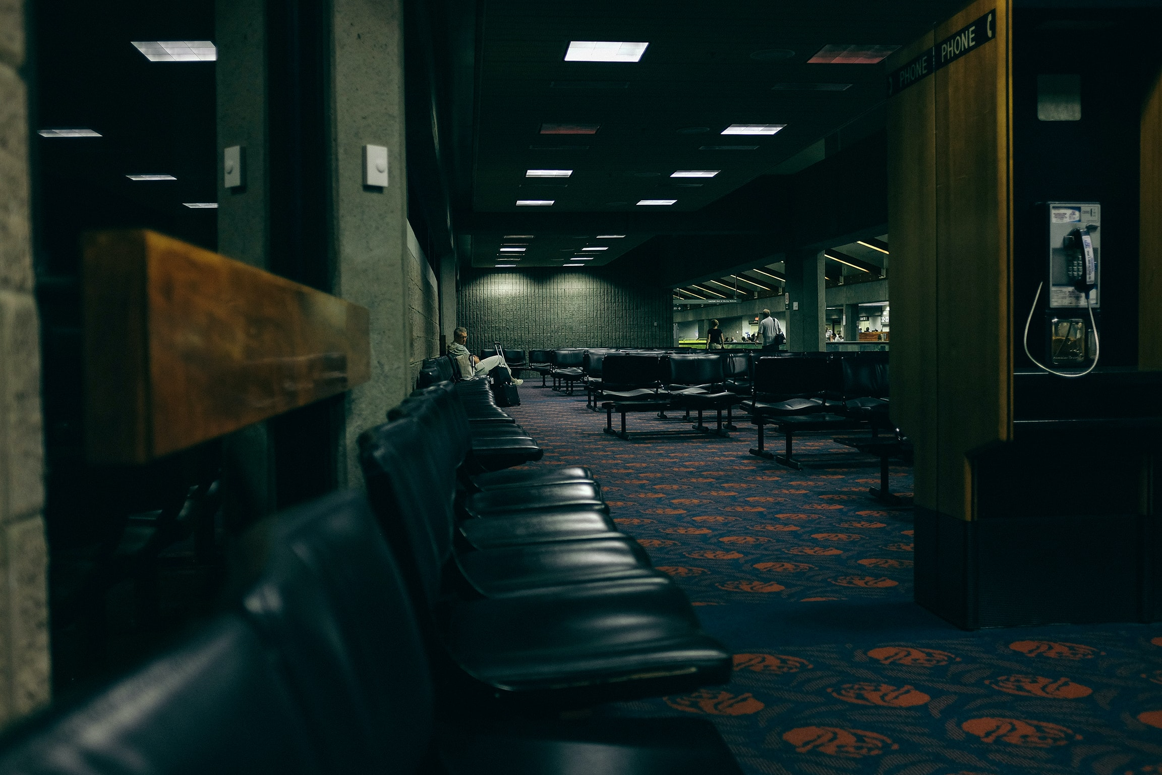 Deserted airport waiting room in an airport