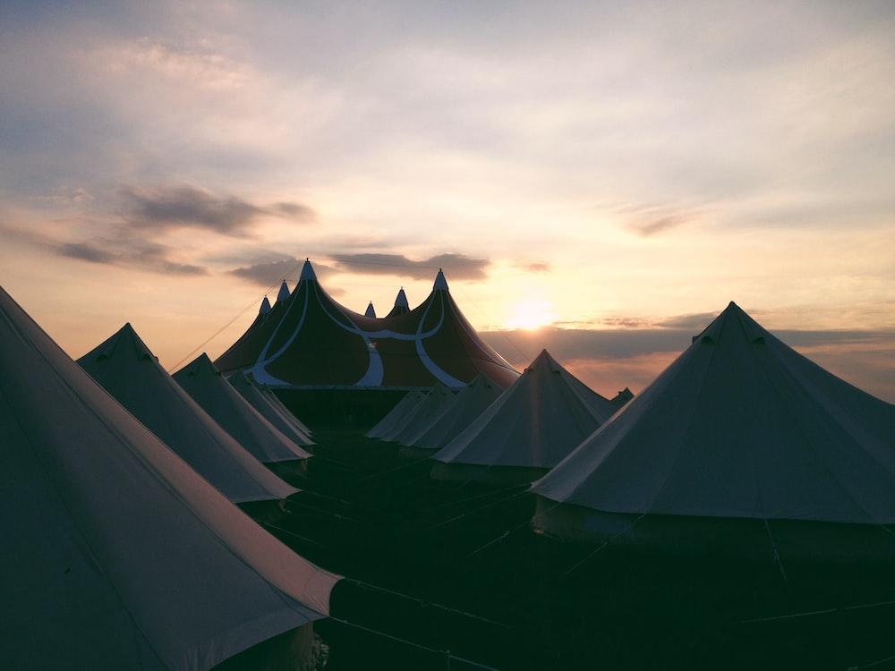gray tent