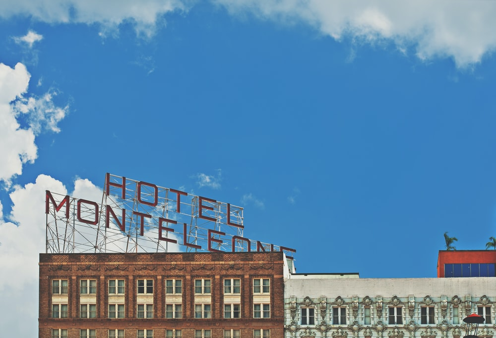 Hotel Monteleone signage on top of building
