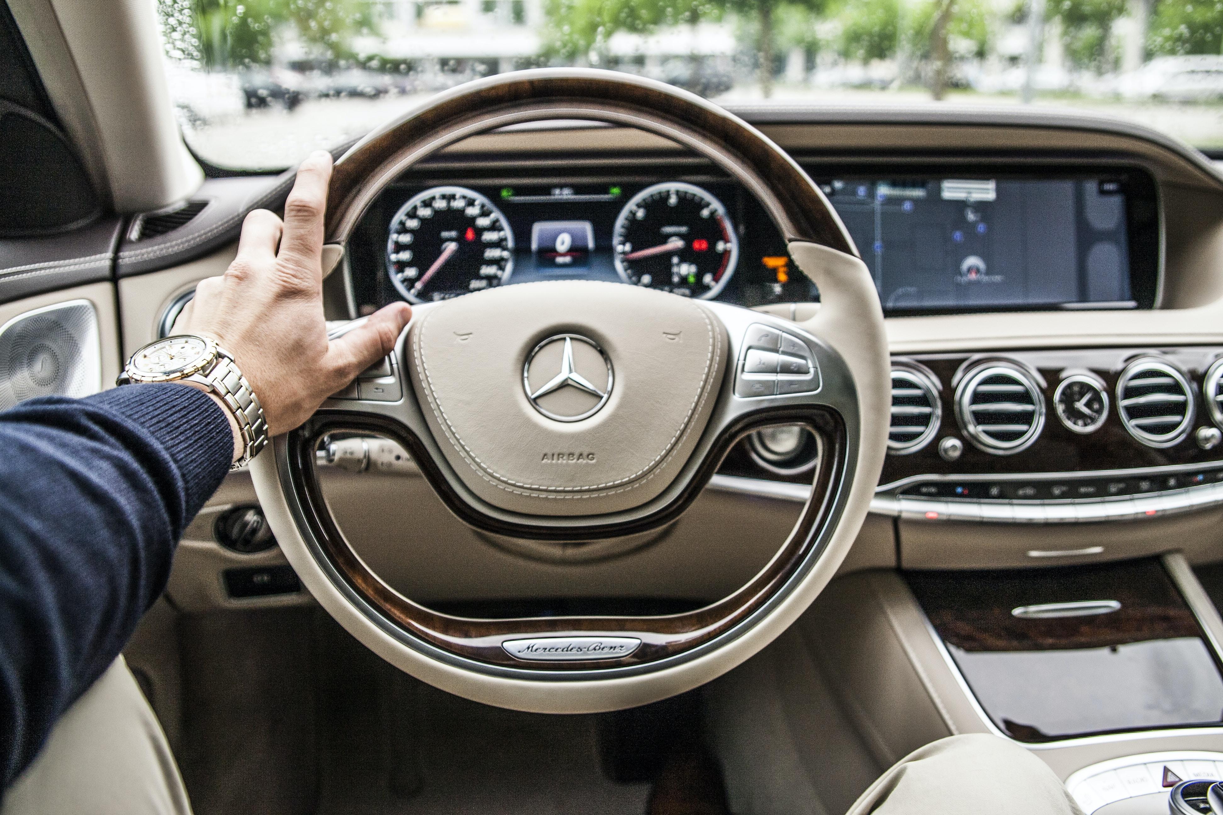 Driving a Mercedes