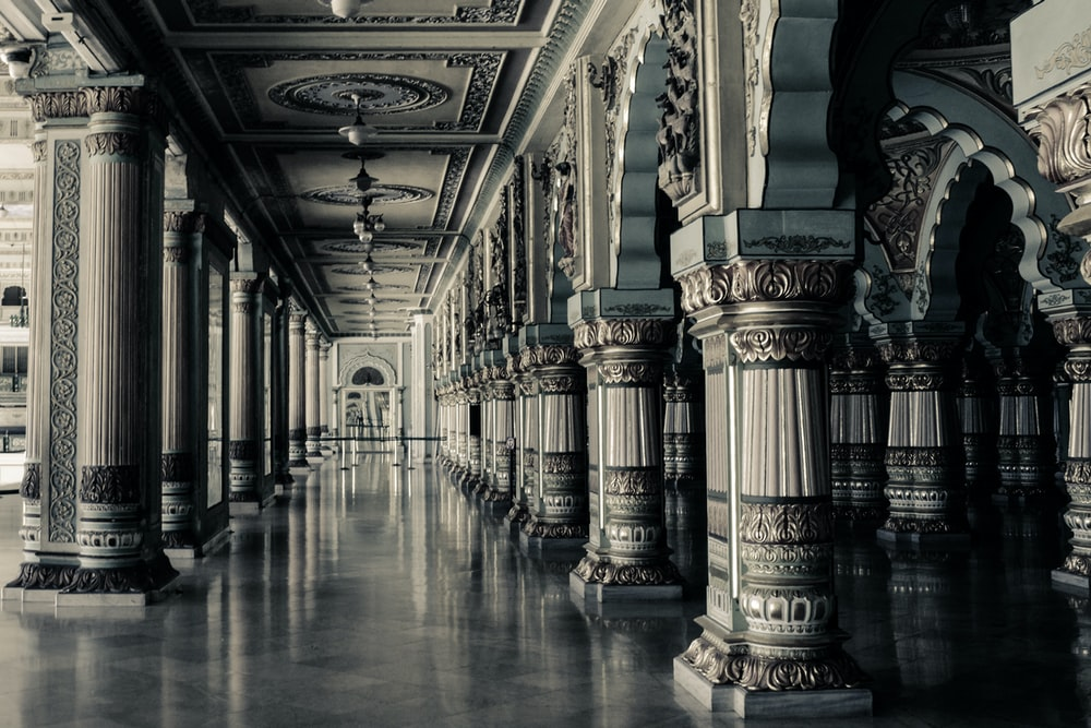 architectural photography of hallway