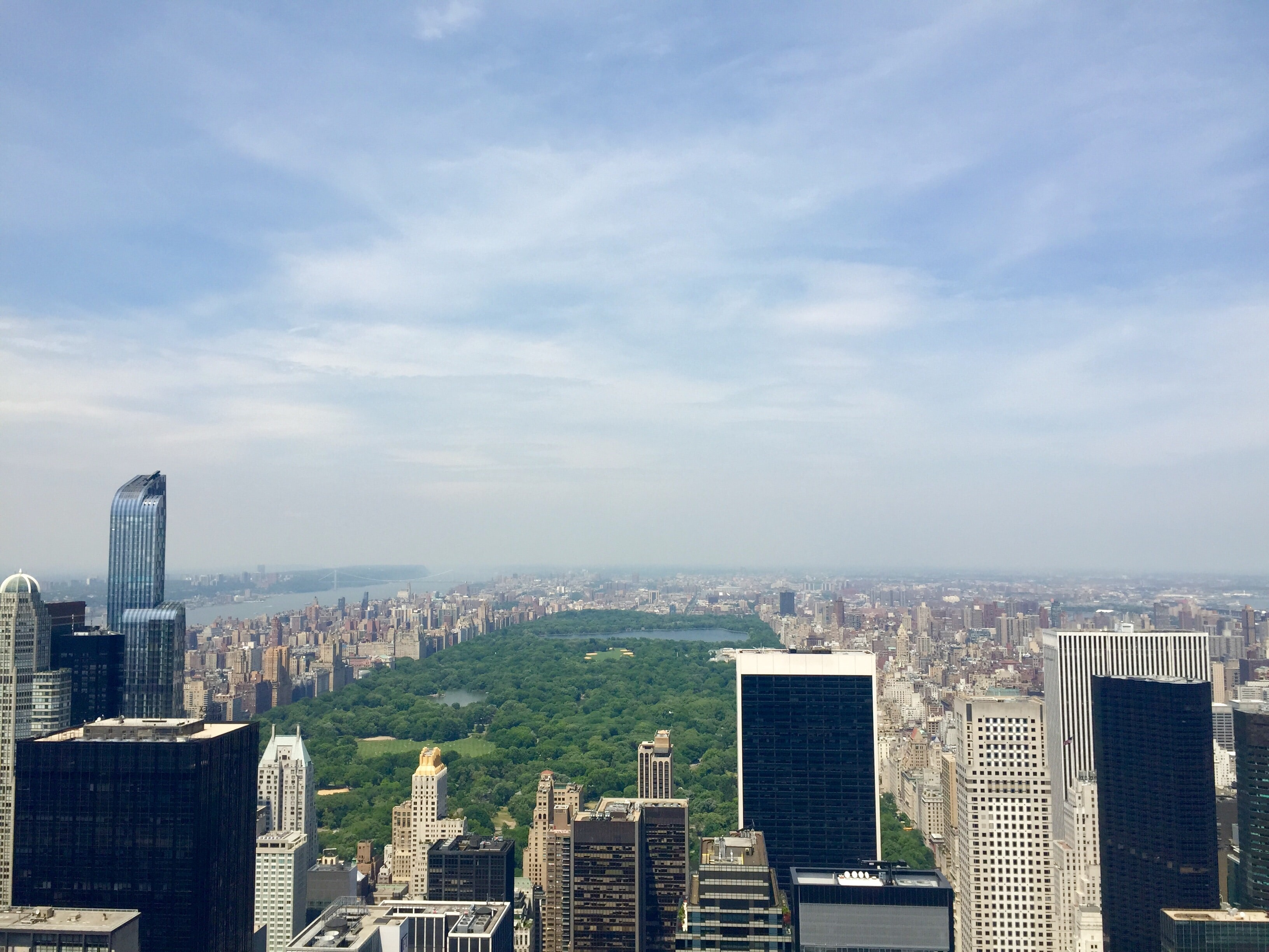 View from a skyscraper on New York City's Central Park