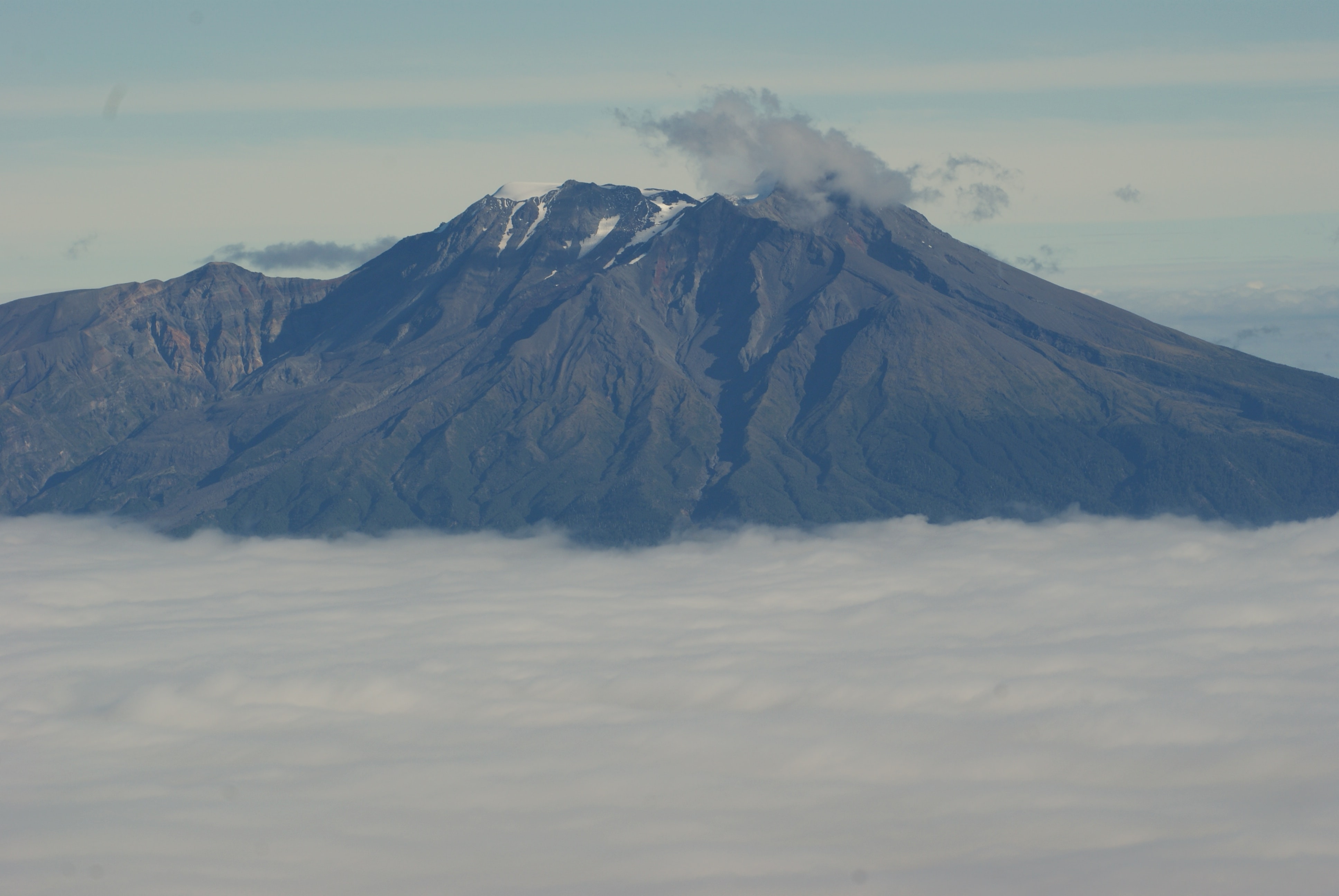 mountain surround with clouds
