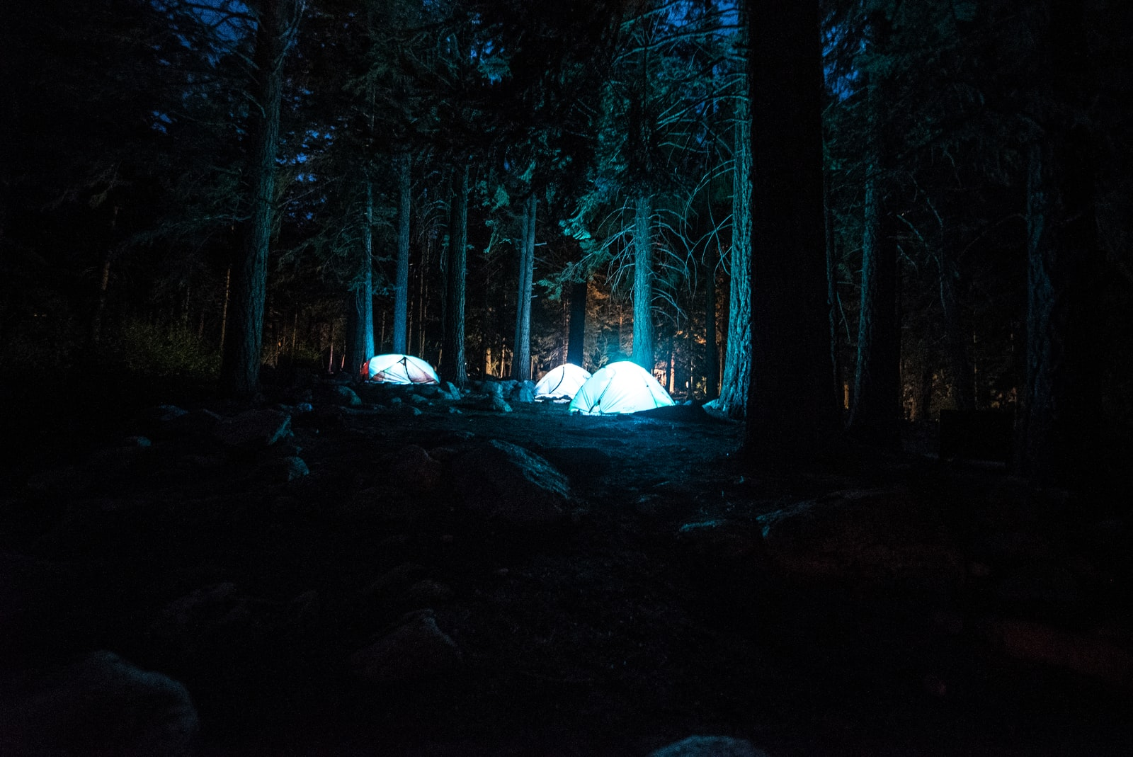 """Sony a7S sample photo. """"Three dome tents with"""" photography"""