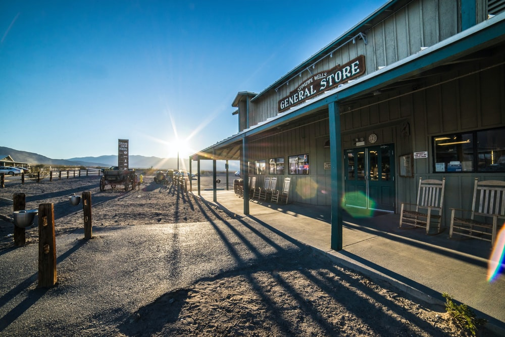 landscape photography of gray General Store facade