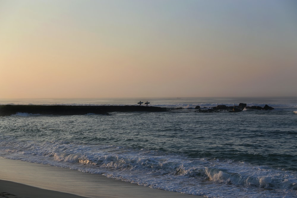 body of water near sea shore