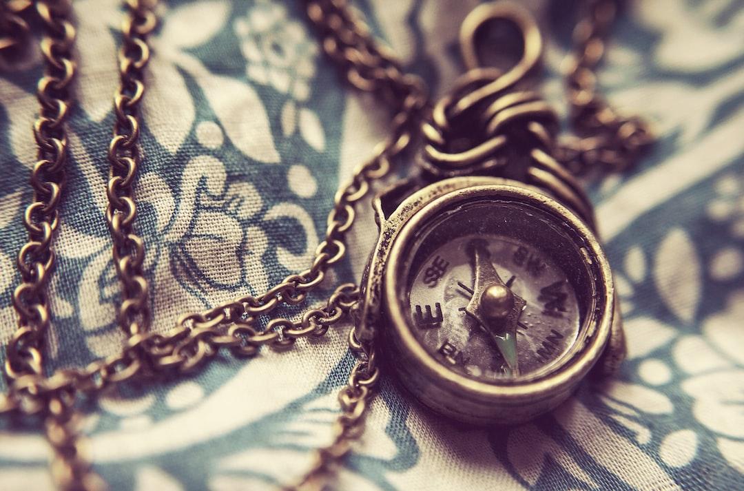 Antique gold compass