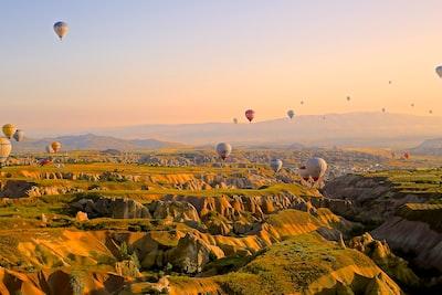 hot air balloon contest turkey zoom background