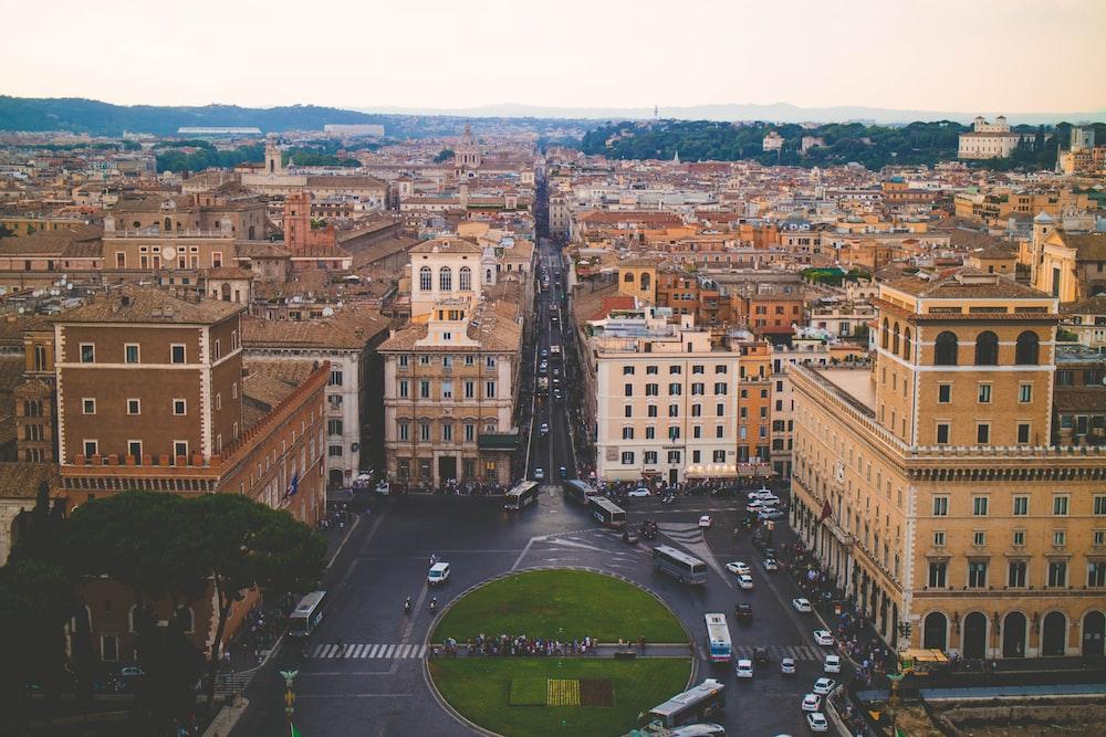 bird's eye view of urban place