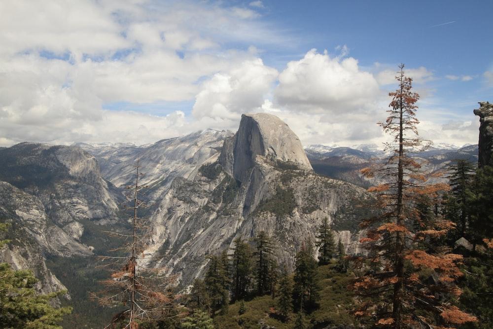 bird's eye-view photography of mountain