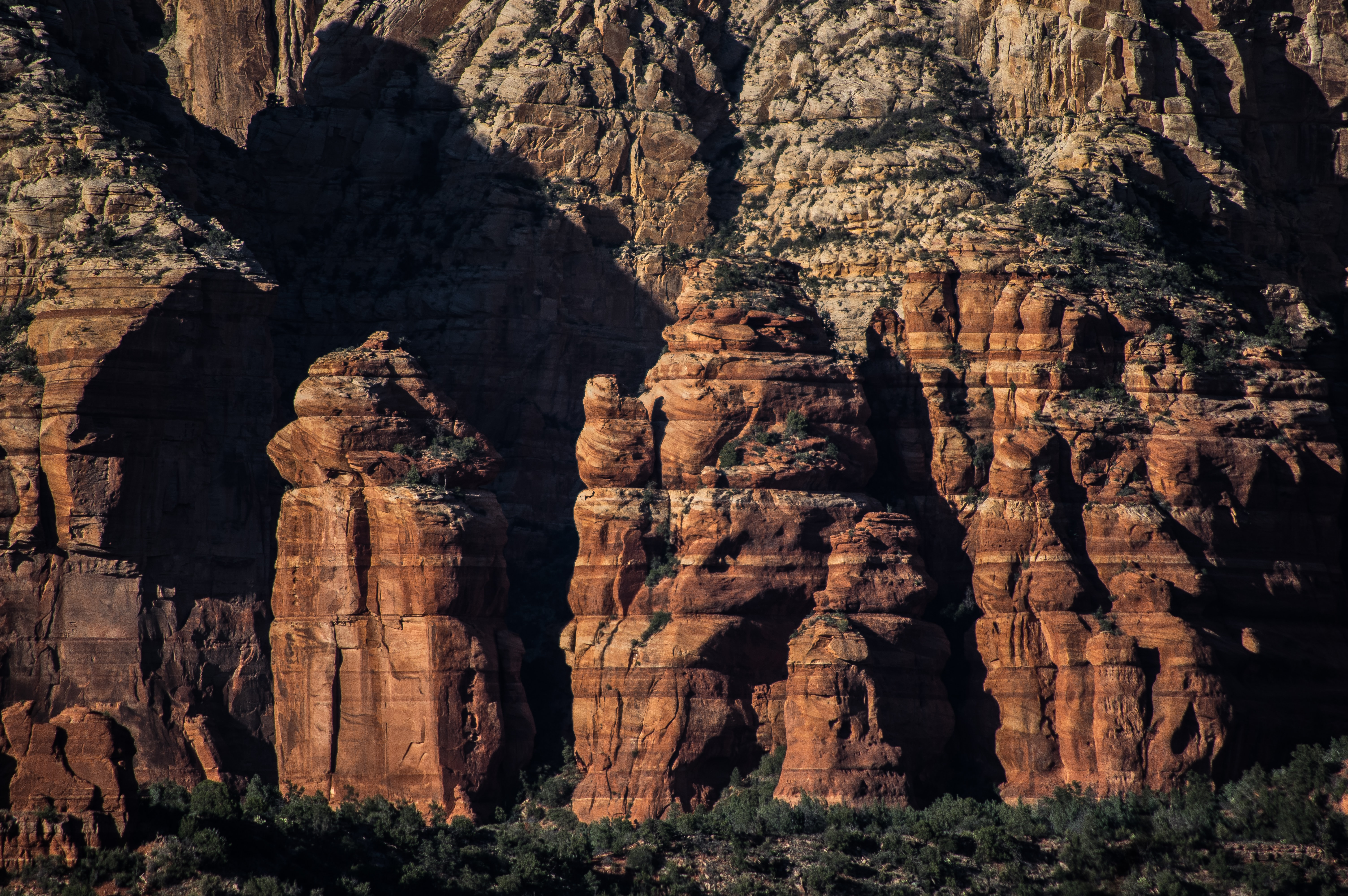 aerial photography of canyon during day