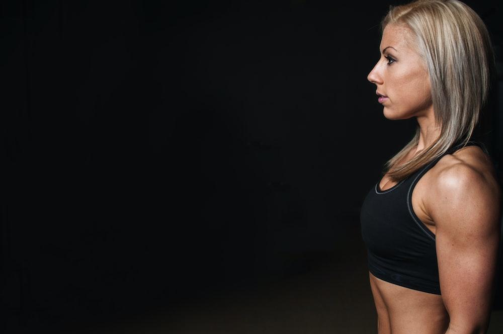 women's black sports bra