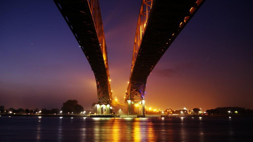 bridge during golden hour