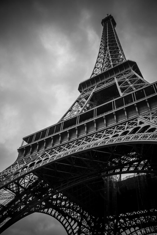 Eiffel Tower, Paris, France grayscale photography