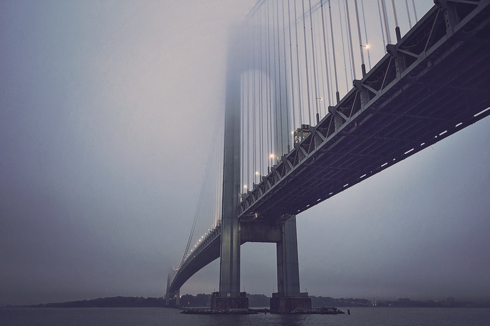 white bridge to town