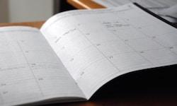 open diary on desk
