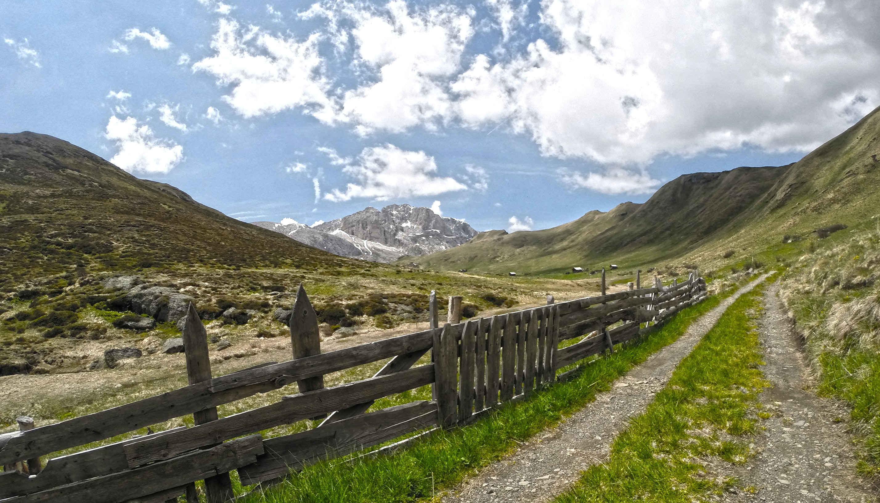 brown wooden fence on mountain