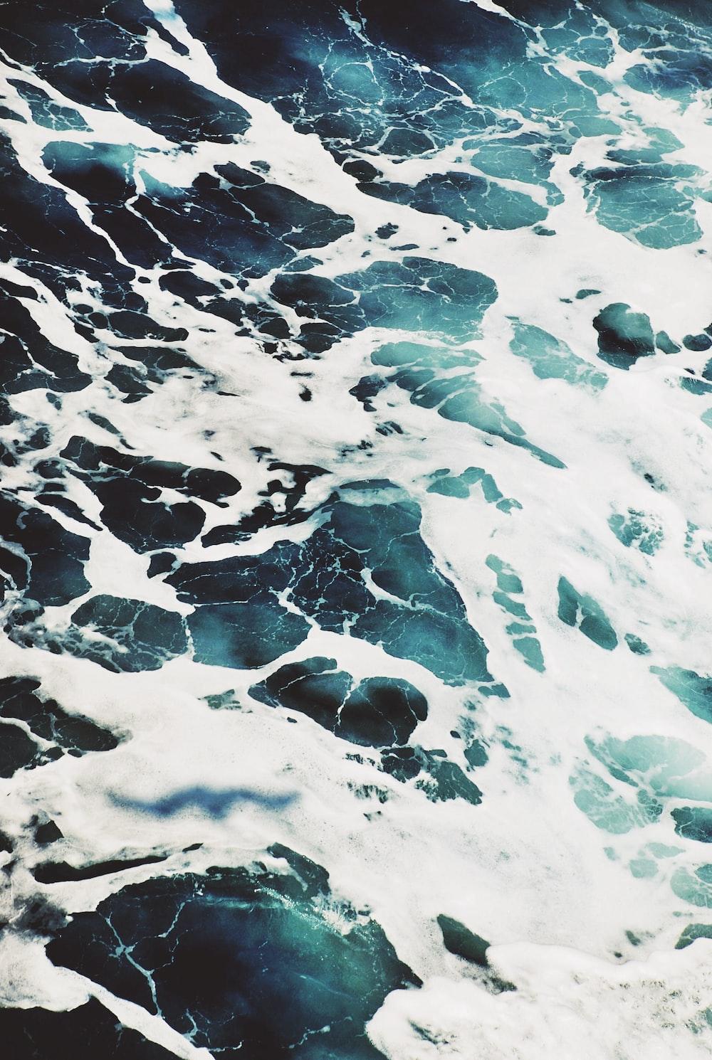Seascape of the ocean foam