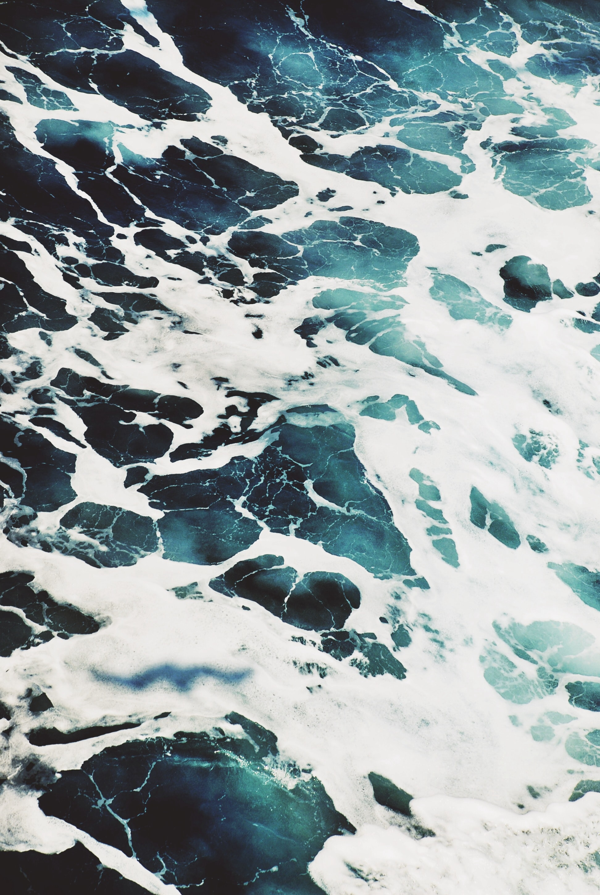 Seascape of the ocean foam