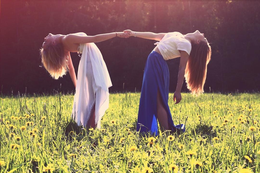 Two women in a meadow