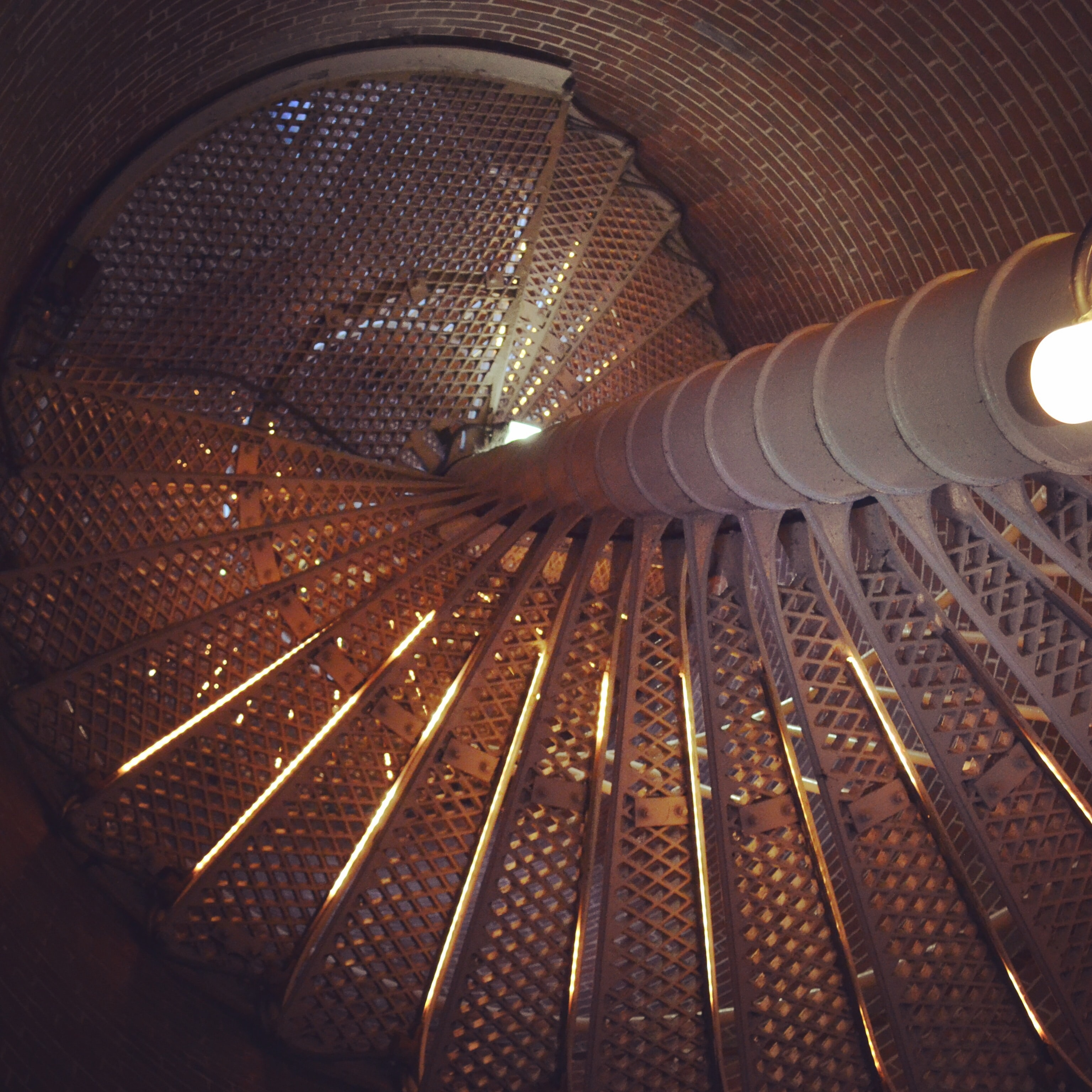 gray helix stairs