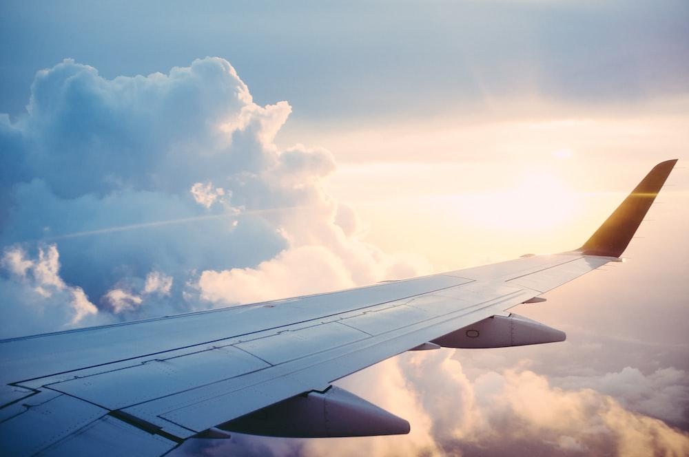 旅客機の航空写真