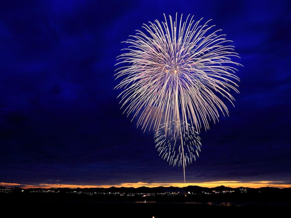 fireworks at night