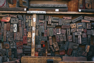 assorted wood stamps