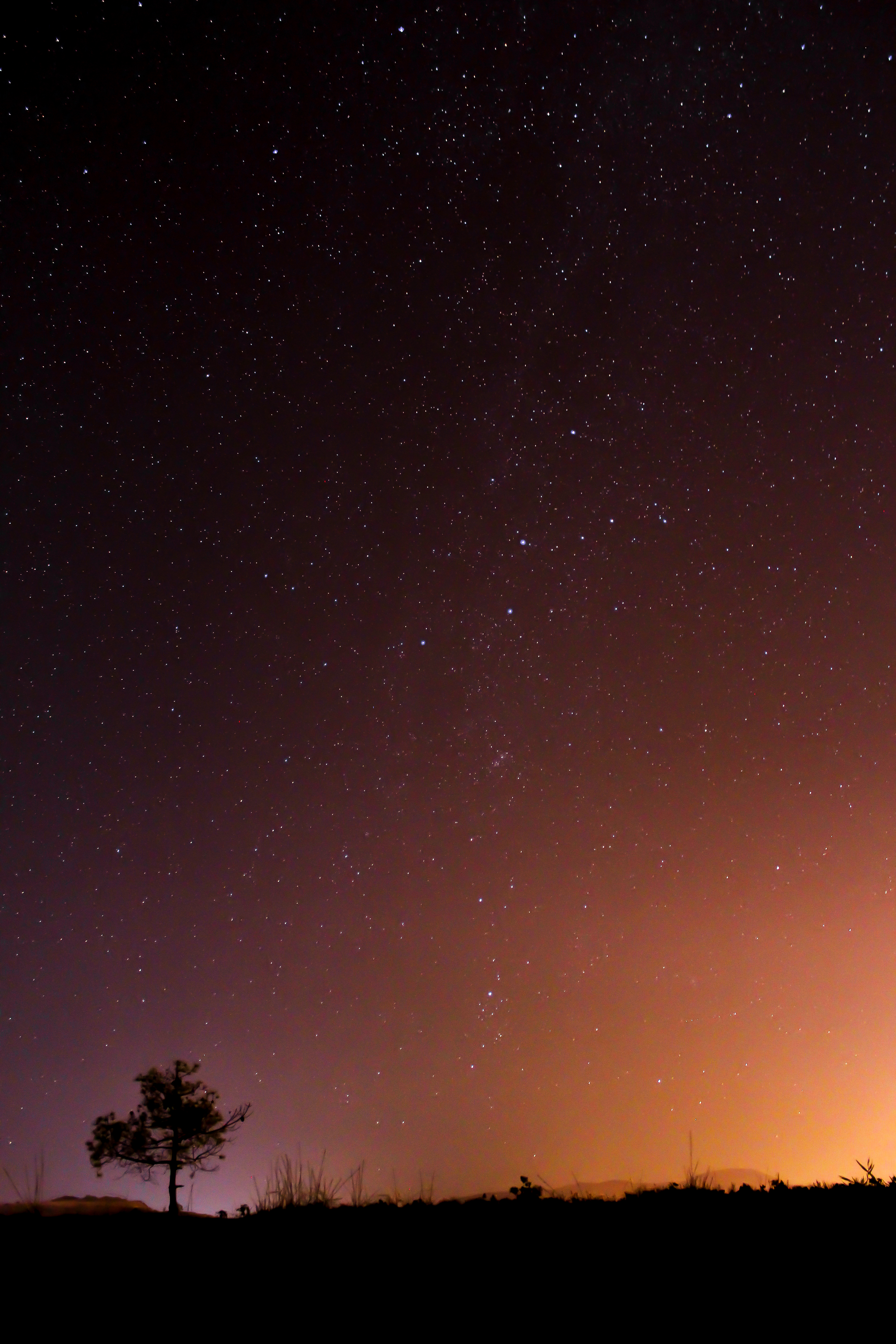 black and orange night sky photo by dimitris adalialis