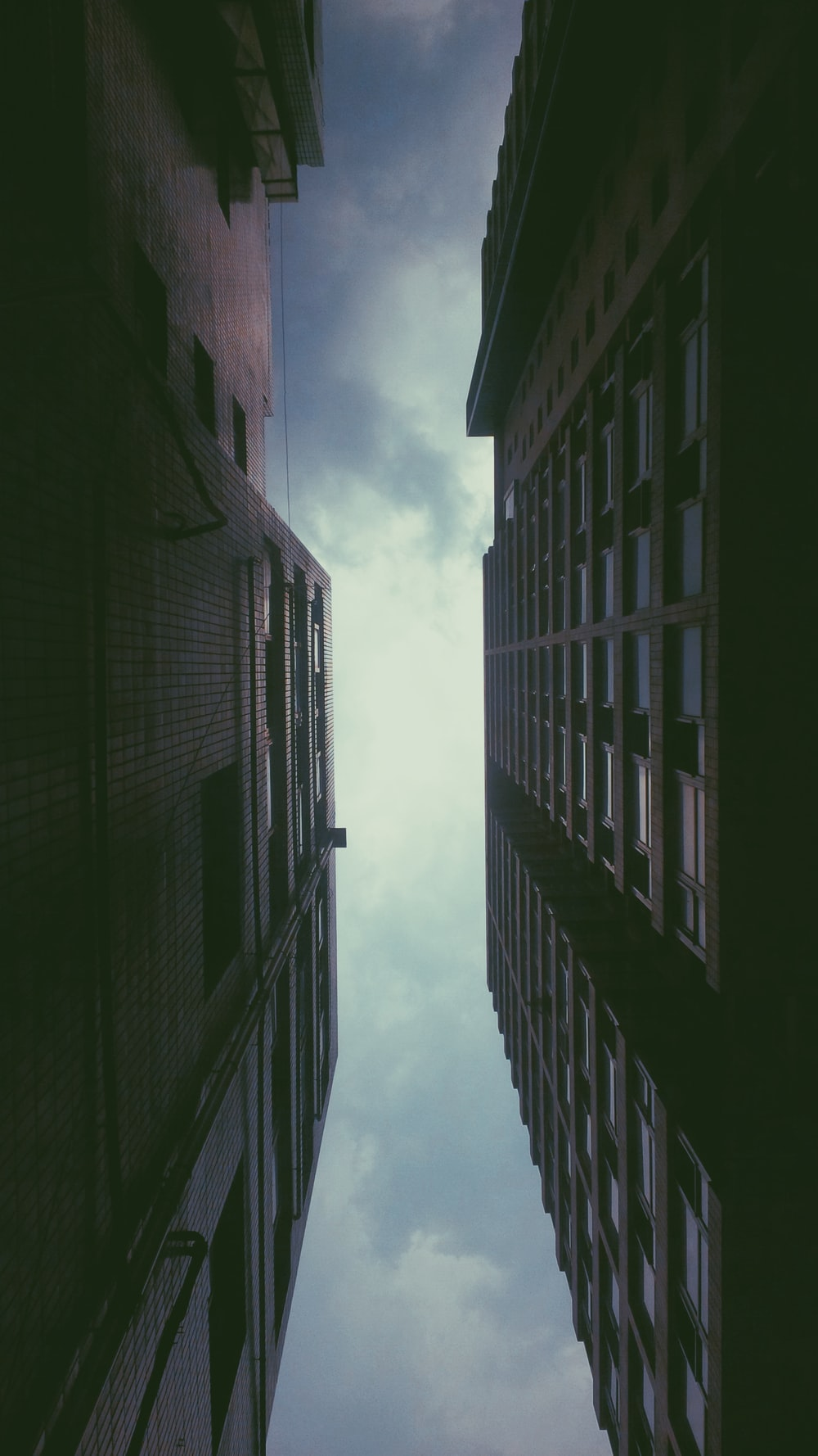 worm's eye view photo of high rise buildings