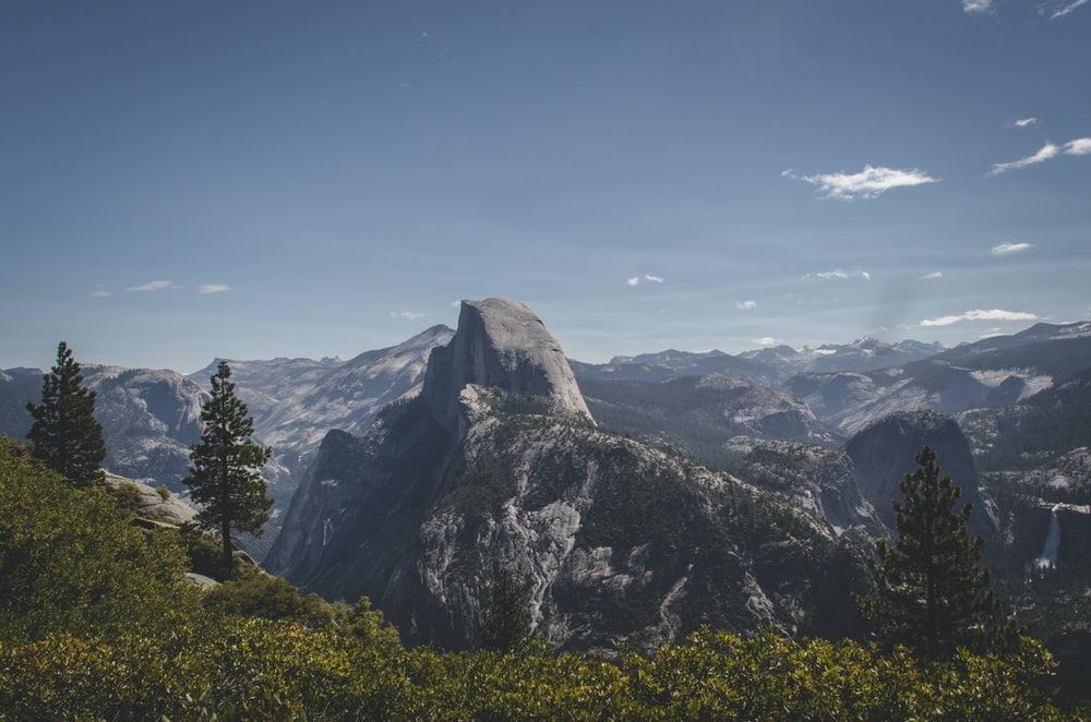 photography of Half Dome, Yosemite National Park