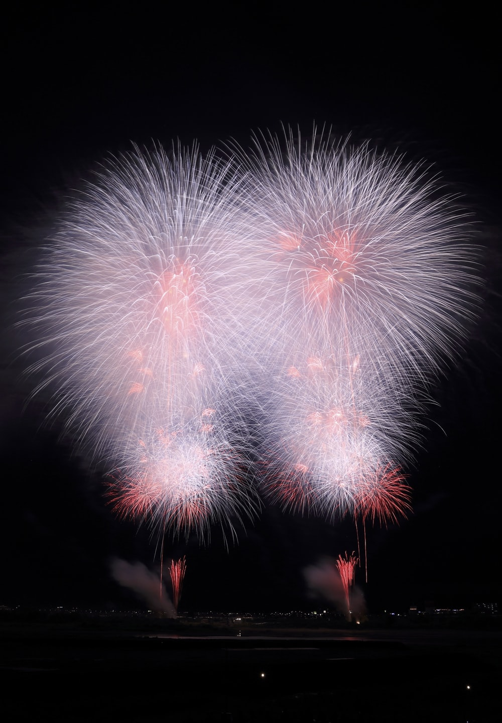 white and red fireworks display